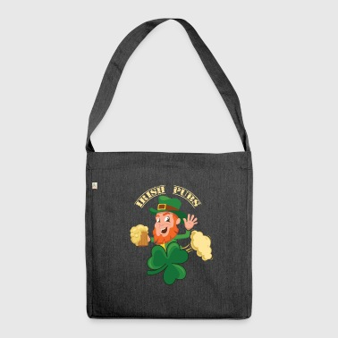 Irish pubs beer pubs - Shoulder Bag made from recycled material