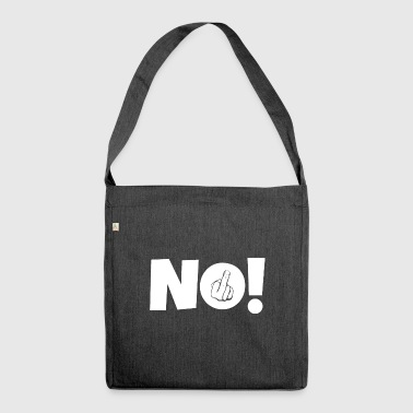 NO! Middle finger stinky finger - Shoulder Bag made from recycled material