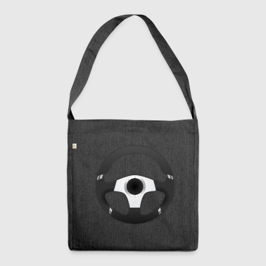 Steering Wheel Sport Steering Wheel Car Guys - Shoulder Bag made from recycled material
