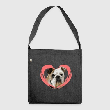 Bulldog Bulldog Bulldog dog gift - Shoulder Bag made from recycled material