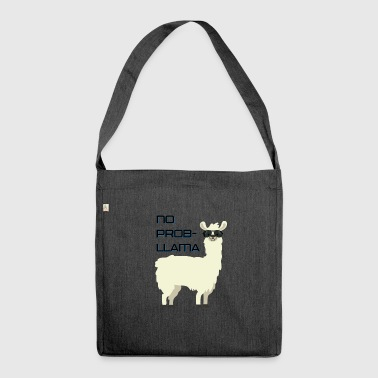 No Prob-llama - lustiges Cartoon-Design - Schultertasche aus Recycling-Material