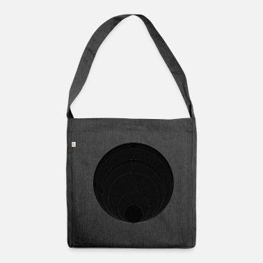 Circle Circle in circle in circle - Shoulder Bag made from recycled material