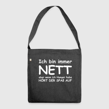 lustiger Spruch - Schultertasche aus Recycling-Material