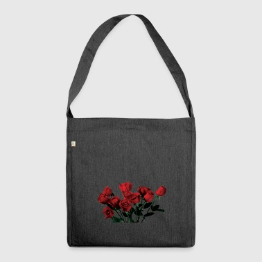 Roses red roses - Shoulder Bag made from recycled material