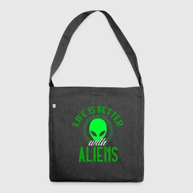 Alien Aliens Alien Alien Gift - Shoulder Bag made from recycled material