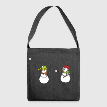 Snowman Snowball Winter Gift Christmas - Shoulder Bag made from recycled material