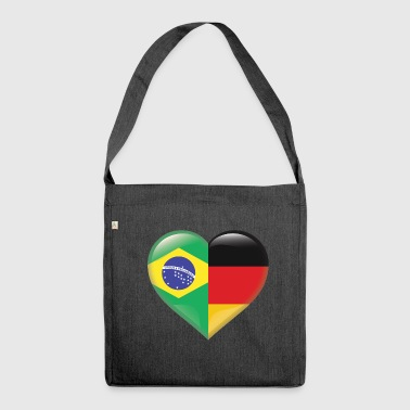 Heart Flag Brazil Samba Germany Gift - Shoulder Bag made from recycled material