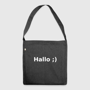 Hallo ;) - Schultertasche aus Recycling-Material