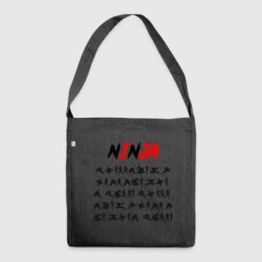 Ninjutsu Ninja Japan Ninjutsu Katana Gift - Shoulder Bag made from recycled material