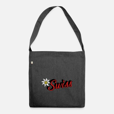 Switzerland Switzerland swiss - Shoulder Bag made from recycled material