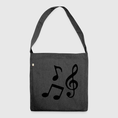 Music notes - Shoulder Bag made from recycled material