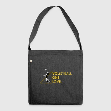 Volleyball Gift Beach Volleyball Volleyballer - Shoulder Bag made from recycled material
