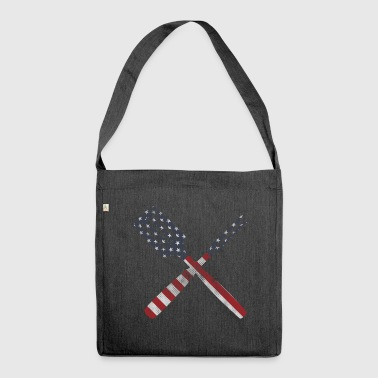 Besteck stars and Stripes - Schultertasche aus Recycling-Material