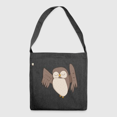 Owl owl - Shoulder Bag made from recycled material