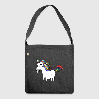 Unicorn Unicorn Cartoon Funny - Skuldertaske af recycling-material