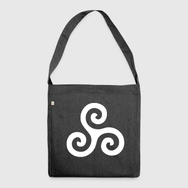Triskele - keltisches Symbol - Celtic - Schultertasche aus Recycling-Material