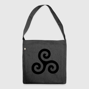 Triskele - keltisches Symbol - Schultertasche aus Recycling-Material