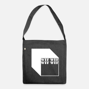 Cubes wtf logo abstract cubes - Borsa in materiale riciclato