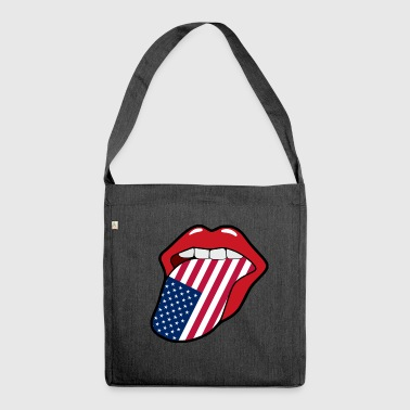 US mouth - Shoulder Bag made from recycled material