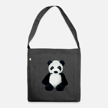Sit Sitting panda - Shoulder Bag made from recycled material