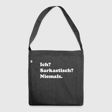 Sarkasmus - Schultertasche aus Recycling-Material