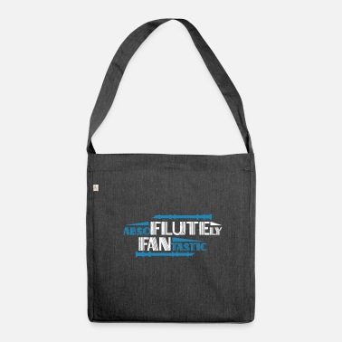 Flute Flute Flute Flute Funny Gift - Shoulder Bag made from recycled material