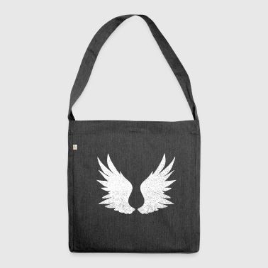 Angel's Wings Angel wings, white wings - Shoulder Bag made from recycled material