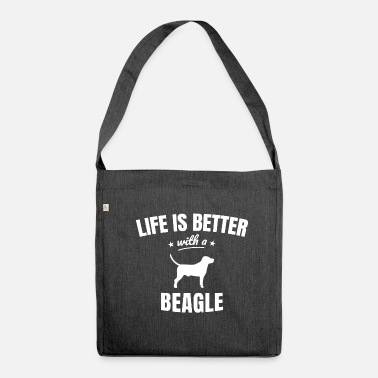 Beagle beagle - Shoulder Bag recycled
