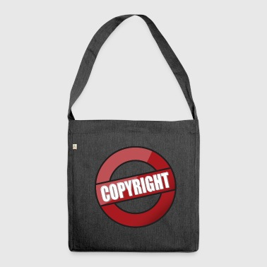 Master Copy copyright copy protection - Shoulder Bag made from recycled material
