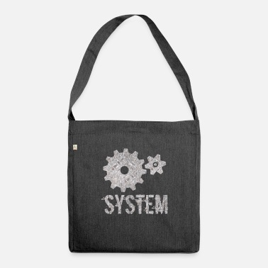 System System - Schultertasche aus Recycling-Material