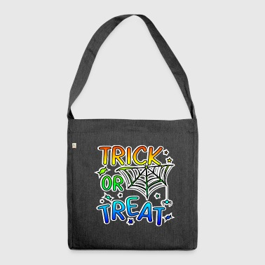 Trick or treat Halloween trick or treat - Shoulder Bag made from recycled material