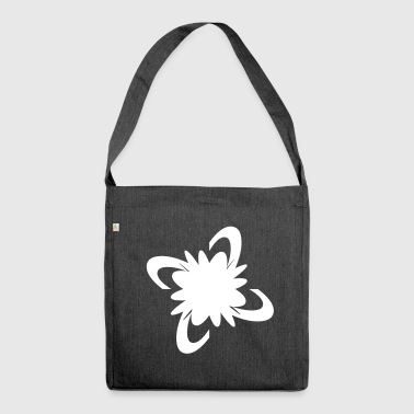 Flower bloom pop summer bloom - Shoulder Bag made from recycled material