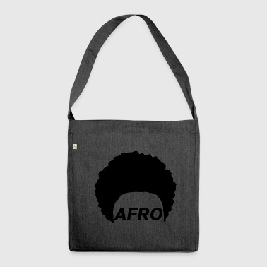 Afro - Schultertasche aus Recycling-Material