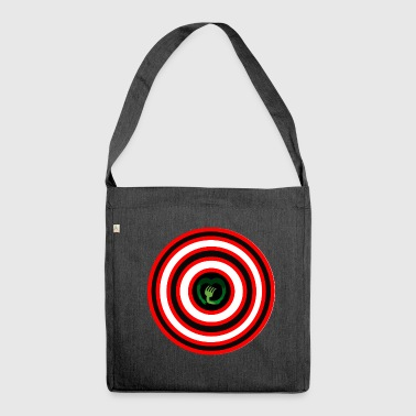 Dart Board - Shoulder Bag made from recycled material