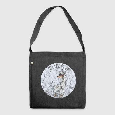 Cooles Lama - Just be cool! - Schultertasche aus Recycling-Material