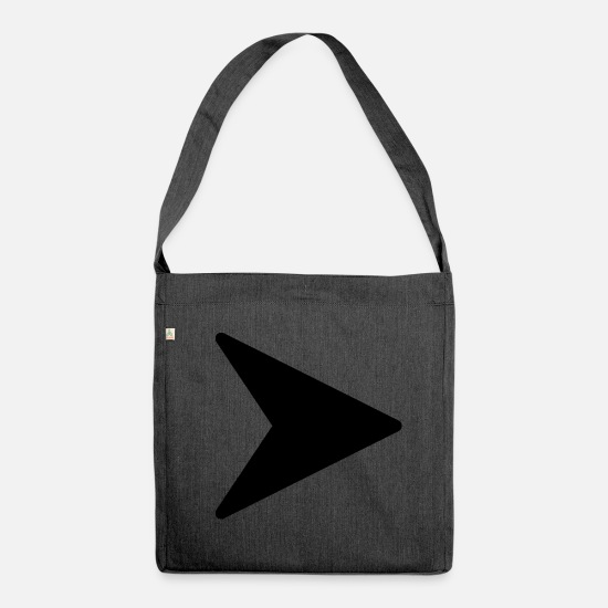 Crosshair Bags & Backpacks - arrow - Shoulder Bag recycled heather black