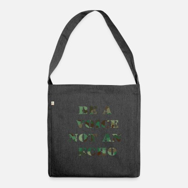 Voice be a voice - Shoulder Bag recycled