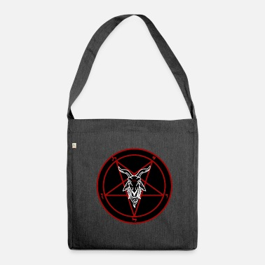 Satan Red and Black Satanic Baphomet - Shoulder Bag made from recycled material