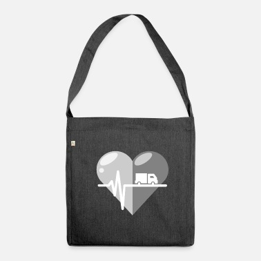 Streaker Truck heartbeat - Shoulder Bag recycled