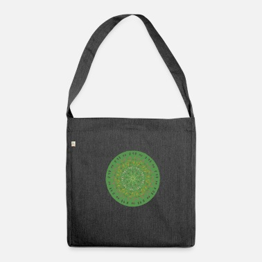 green mandala - Shoulder Bag made from recycled material