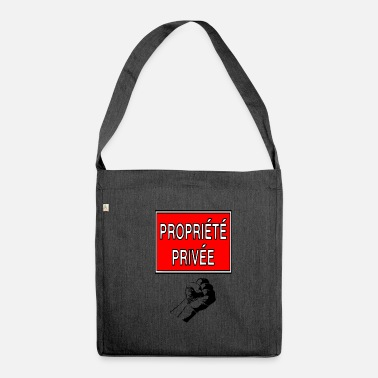 Privateer private property - Shoulder Bag recycled
