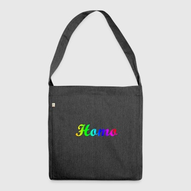 homo - Schultertasche aus Recycling-Material