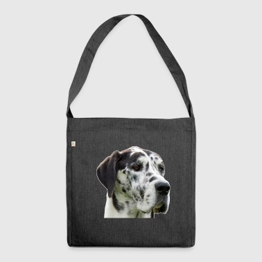 Danish manor dog - Shoulder Bag made from recycled material