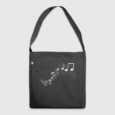 Music notes music notes - Shoulder Bag made from recycled material