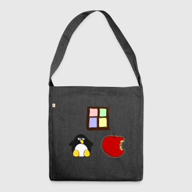 Linux Apple Windows - Schultertasche aus Recycling-Material