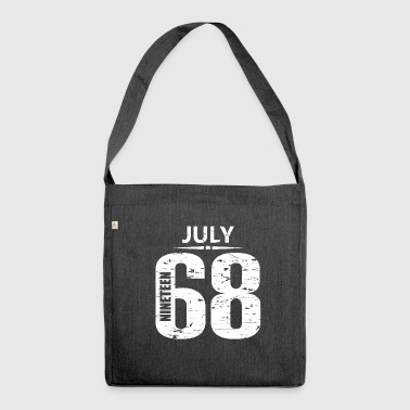 July 1968 Jersey Number - Shoulder Bag made from recycled material