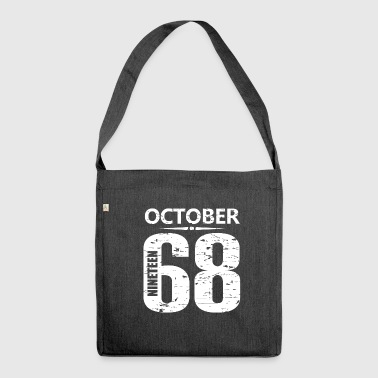 October 1968 Jersey Number - Shoulder Bag made from recycled material