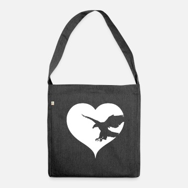 Bird Of Prey Eagle bird of prey bird of prey - Shoulder Bag made from recycled material
