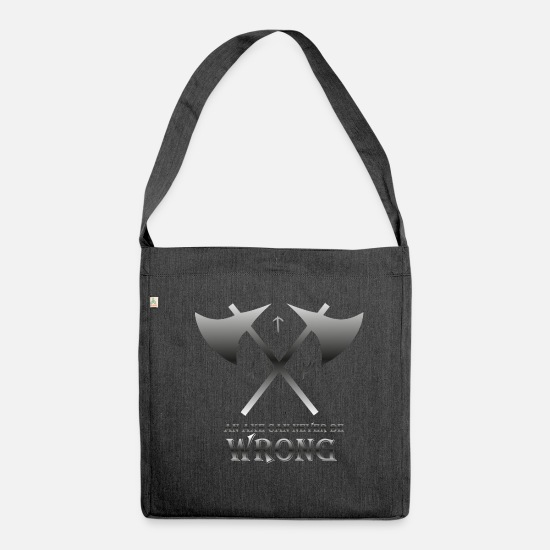 Viking Bags & Backpacks - Axes - Shoulder Bag recycled heather black