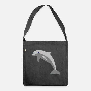 Dolphin Dolphin - Shoulder Bag made from recycled material